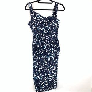 Maggie London sleeveless ruched waist dress sz 6